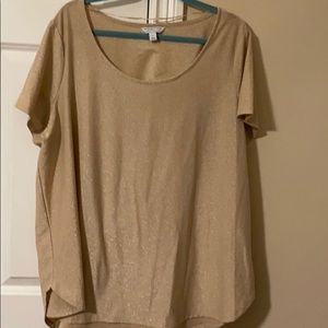 EUC Tan/Pinkish Sparkle Top